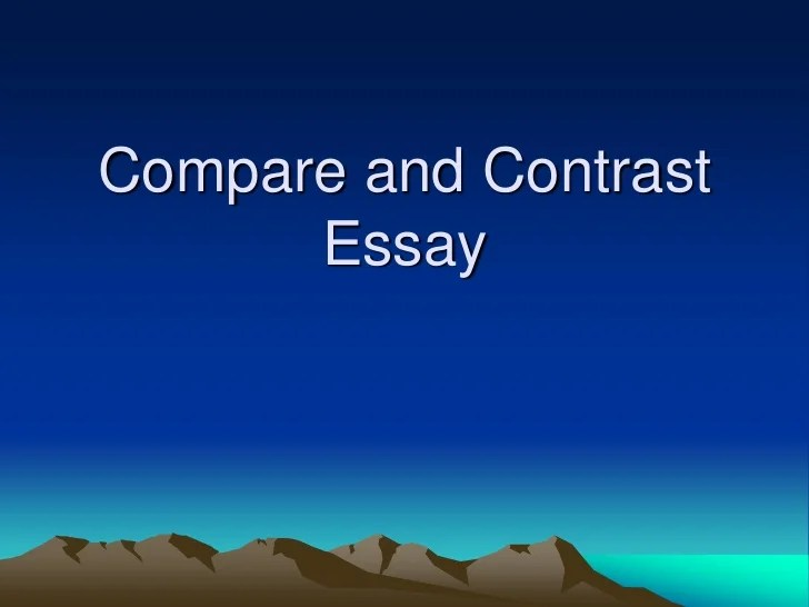 Compare and contrast essay heroes