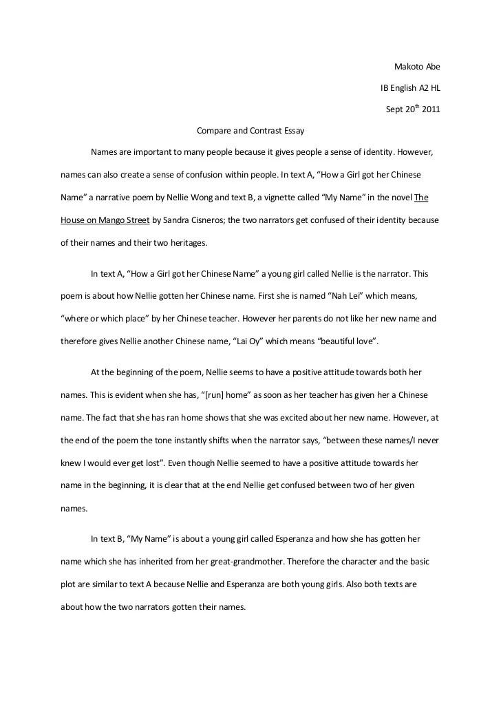 poem comparison essay