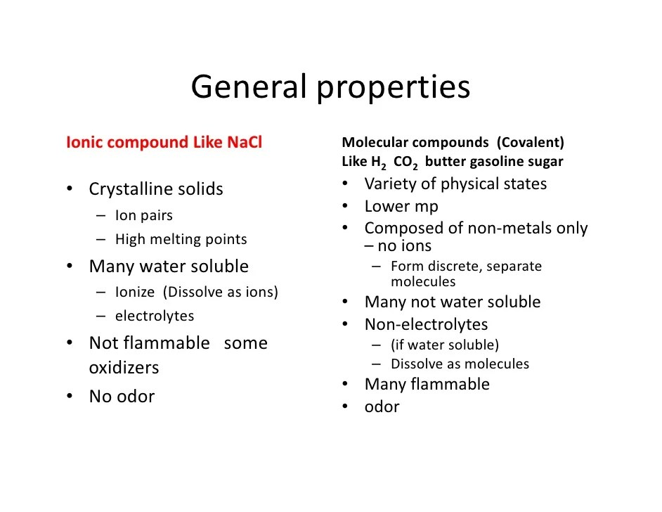 also comparison of ionic and covalent compounds rh slideshare