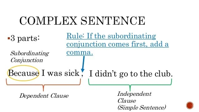 Complex Sentences and Commas