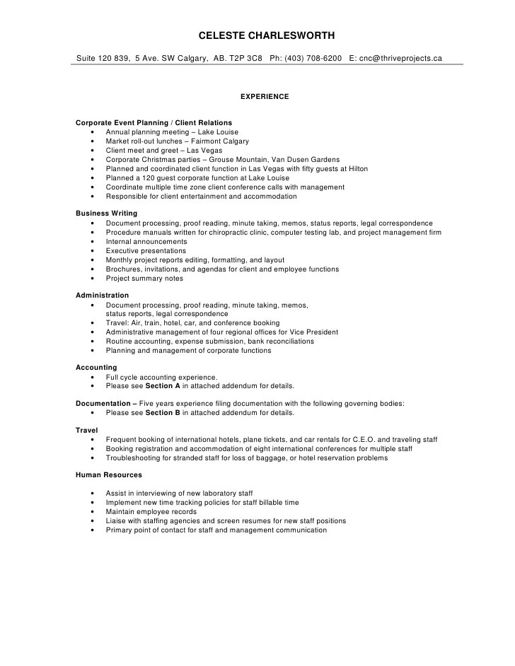 Comprehensive Resume