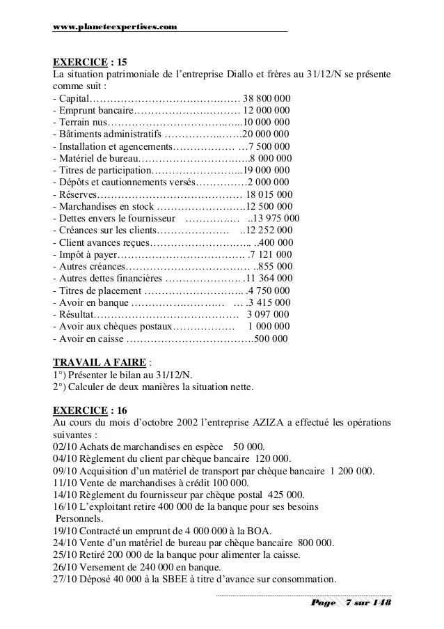 Comptabilite Generale Exercices Et Corriges 1 : comptabilite, generale, exercices, corriges, Comptabilite, Generale, Exercices, Corriges