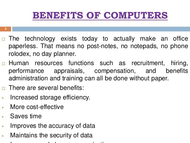 Image result for benefits of computer