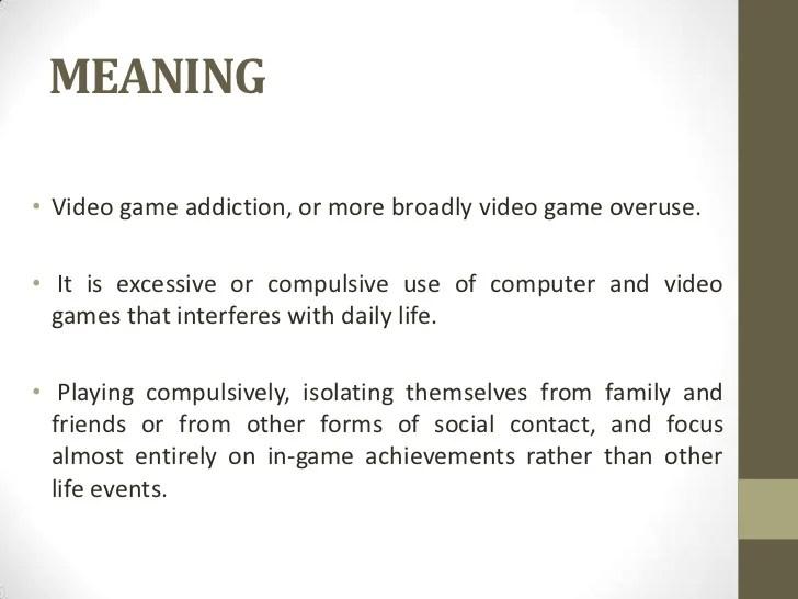 Computer Gaming Addiction