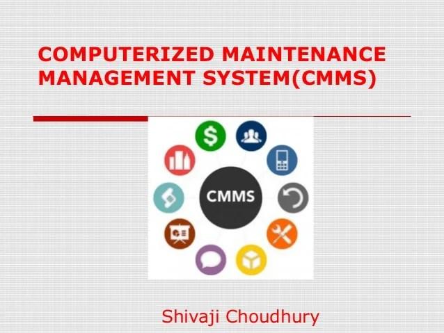 Computerized Maintenance Management System (cmms
