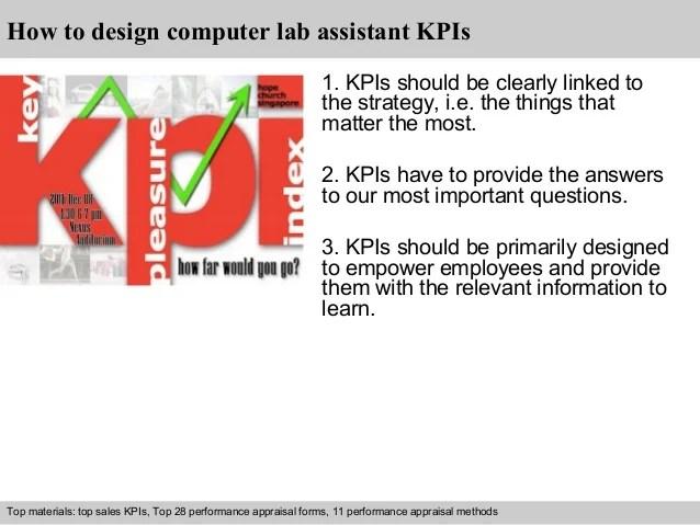 Computer lab assistant kpi