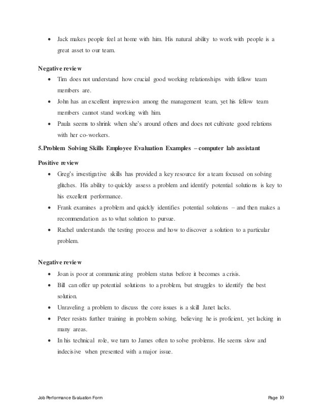 Computer lab assistant perfomance appraisal 2
