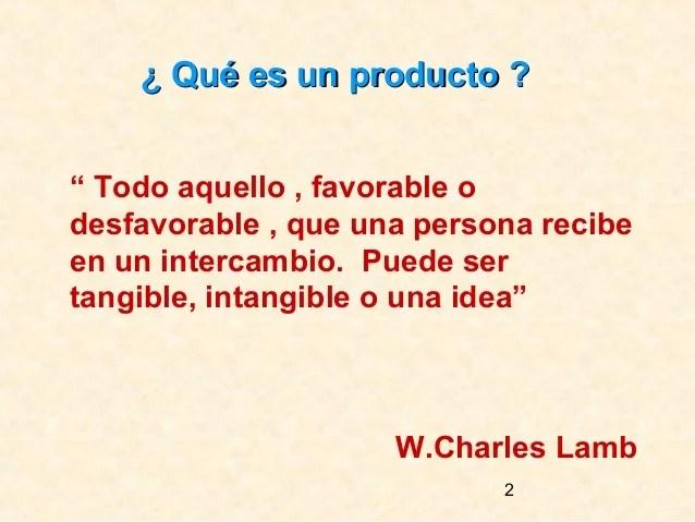 Conceptos de producto