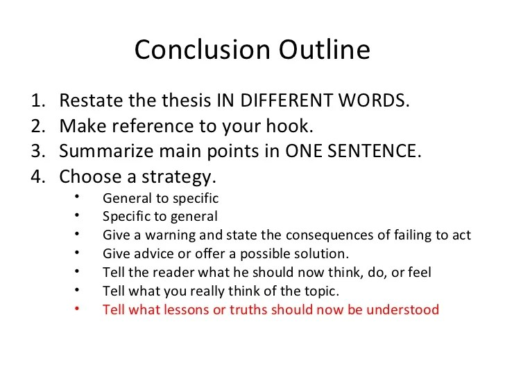 How Do You Write A Conclusion Paragraph In An Essay Original Content