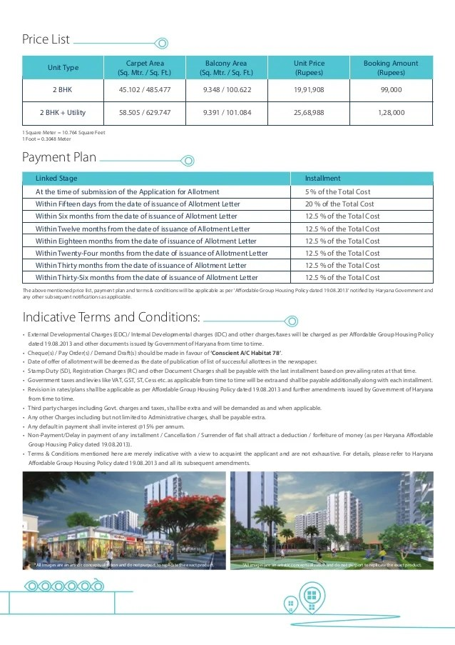 Price List Linked Stage Installment 5 % of the Total Cost 20 % of the Total Cost 12.5 % of the Total Cost 12.5 % of the To...