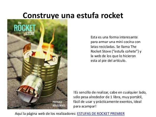 Construye una estufa rocket