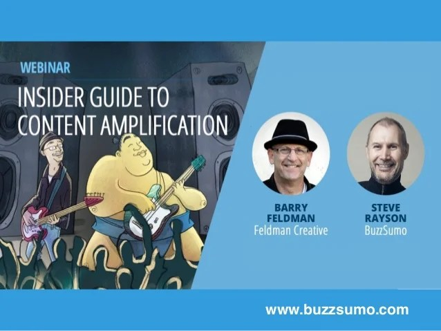 Insiders' Guide to Content Amplification with BuzzSumo and Barry Feld…