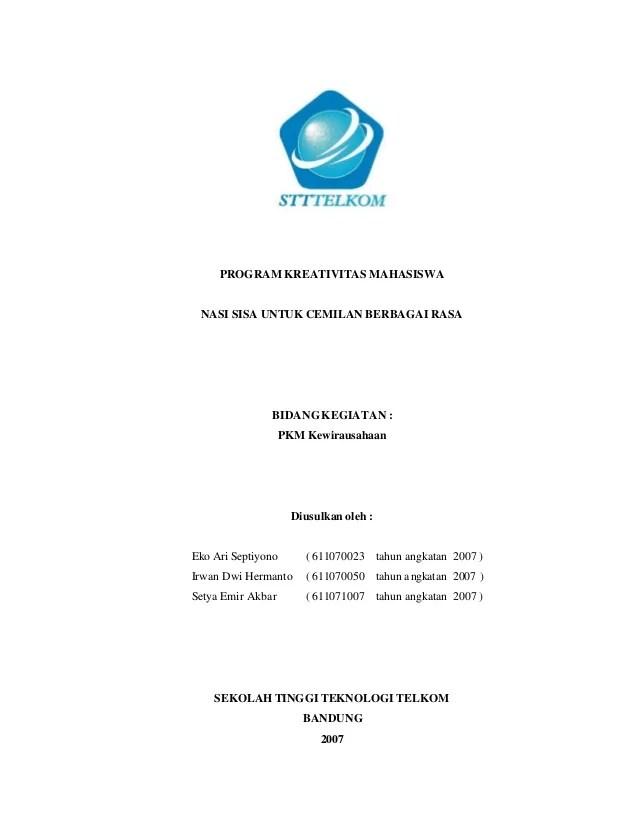 Contoh Proposal Pkm Kewirausahaan Mahasiswa Gantungan ...