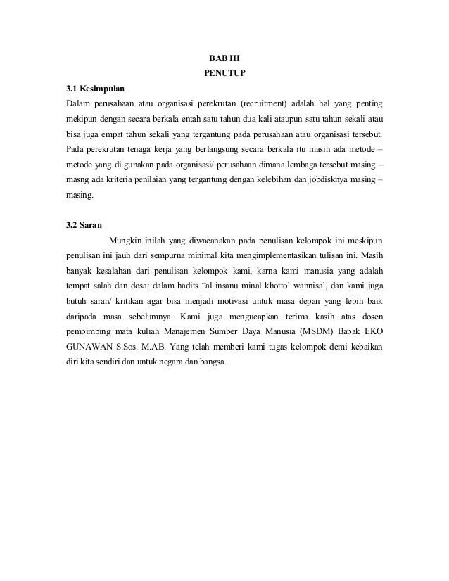 Contoh Penutup Makalah : contoh, penutup, makalah, Contoh, Kesimpulan, Saran, Makalah, Cute766