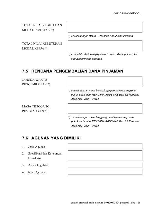 Contoh Proposal Bisnis Plan Kuliner | Example Of Cover Letters And ...