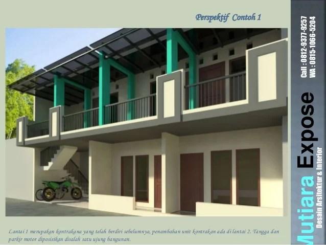 Contoh Desain Rumah Kontrakan Petak