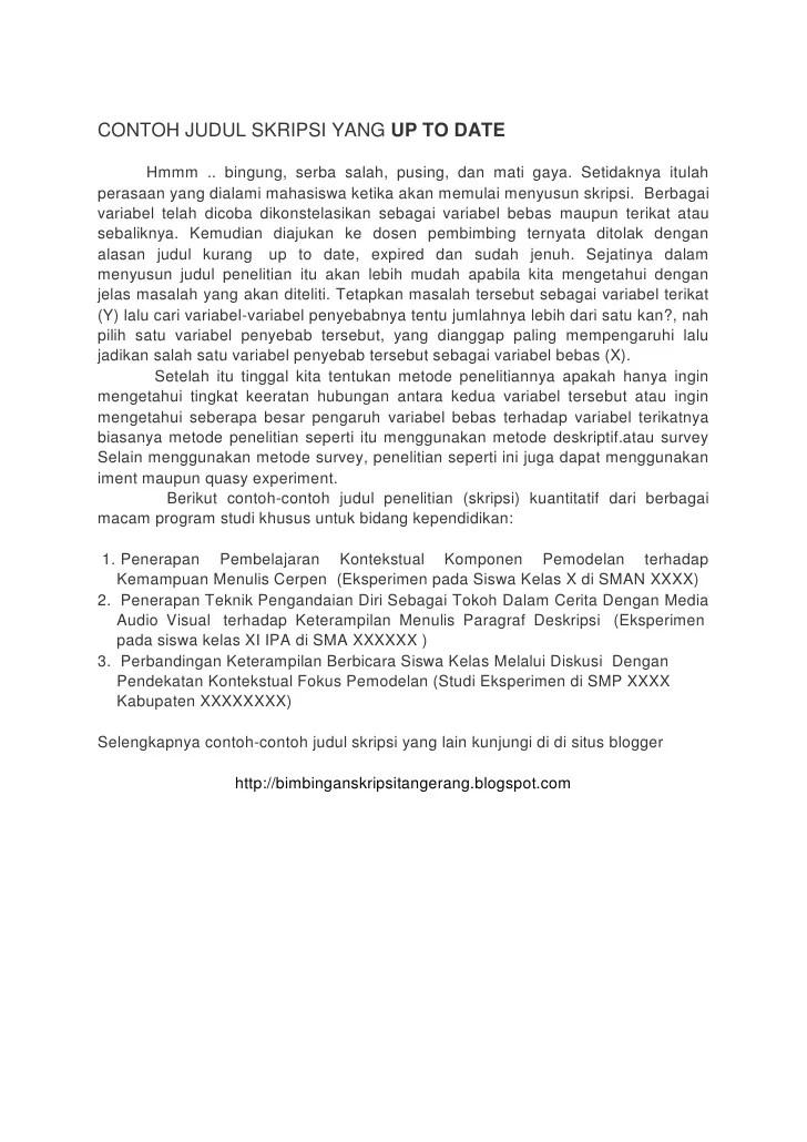 Contoh Skripsi Yang Salah Doc Document Cute766