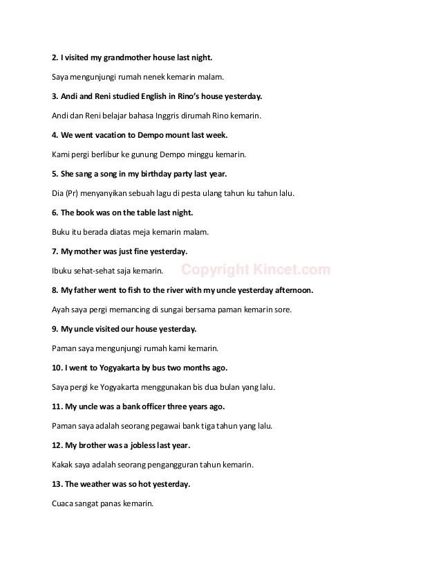 Contoh Kalimat Simple Past Tense Positif, Negatif Dan Tanya : contoh, kalimat, simple, tense, positif,, negatif, tanya, Contoh, Kalimat, Simple, Tense, Dalam, Bentuk, Positif,, Negatif, Inte…