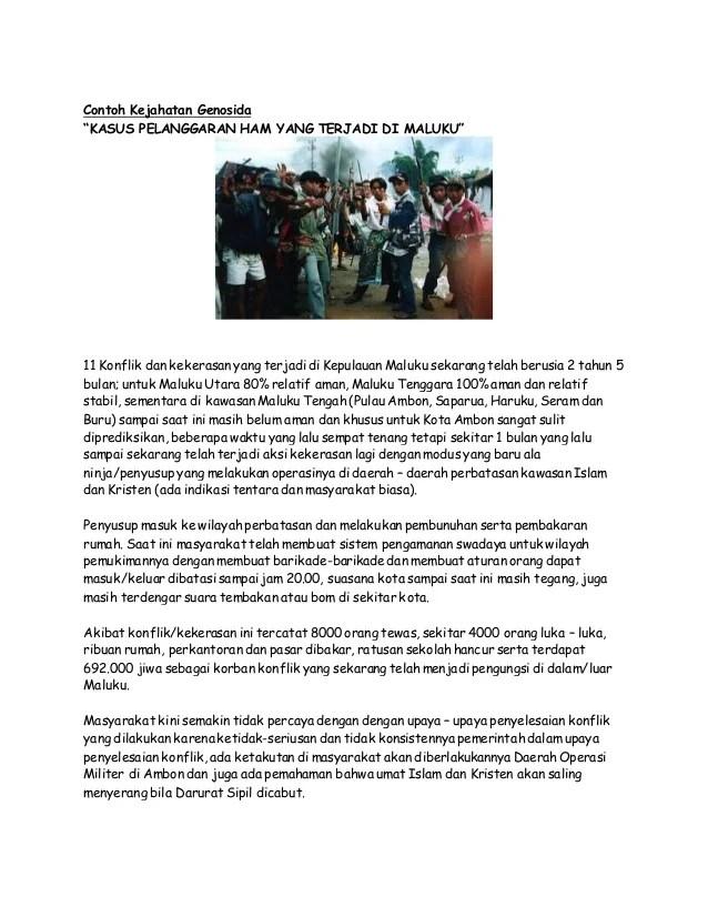 Contoh Konflik Beserta Gambarnya : contoh, konflik, beserta, gambarnya, Kejahatan, Genosida