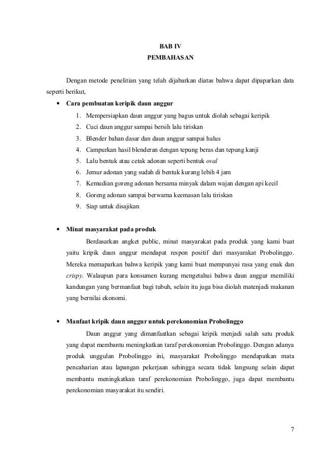 Contoh Soal Dan Materi Pelajaran 10 Contoh Tesis Bab 4 Kualitatif