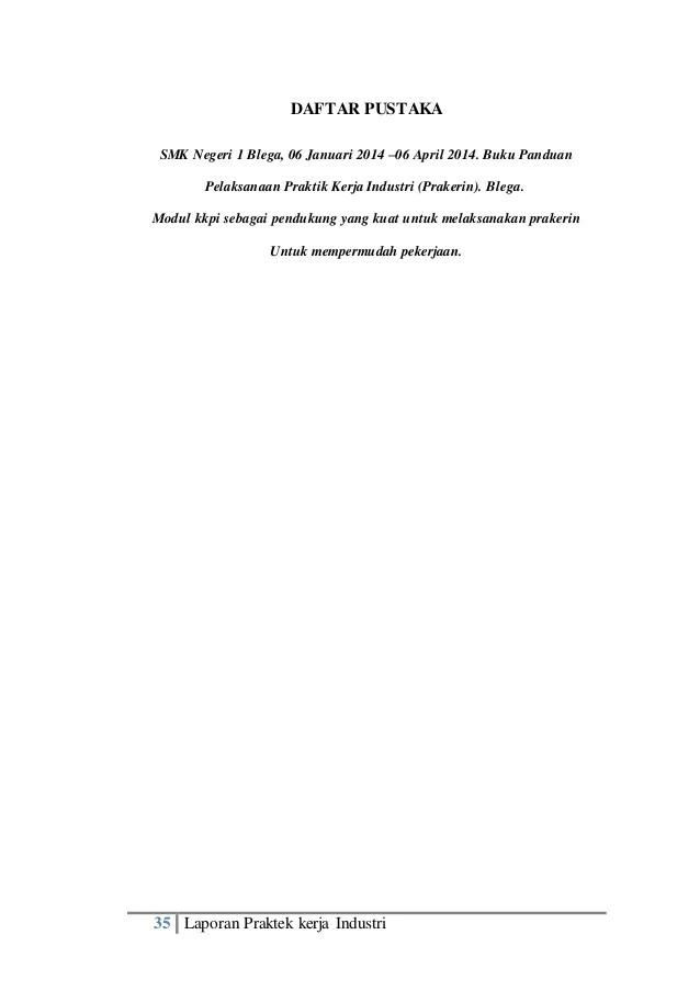 Daftar Pustaka Laporan Pkl : daftar, pustaka, laporan, Contoh, Daftar, Pustaka, Untuk, Laporan, Seputar