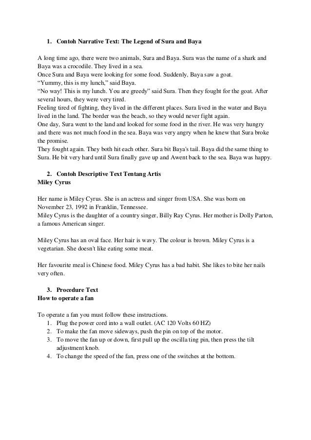 Contoh Descriptive Text Tentang Artis : contoh, descriptive, tentang, artis, Contoh, Narrative