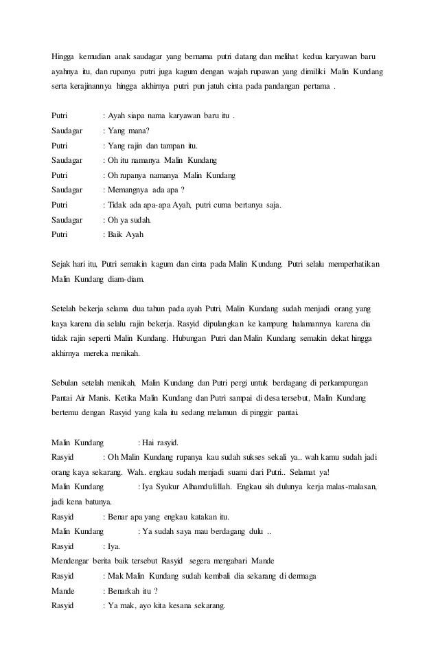Naskah Drama Dua Orang : naskah, drama, orang, Contoh, Drama, Legenda, Malin, Kundang, Cute766