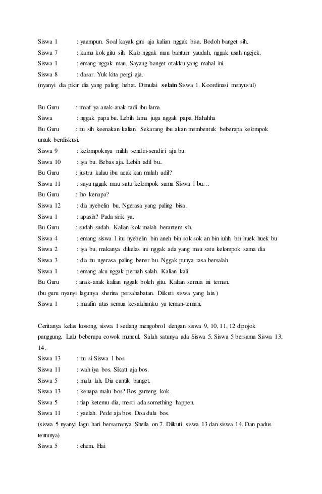 Contoh Drama Musikal : contoh, drama, musikal, Contoh, Naskah, Drama, Musikal, Sederhana, Cute766