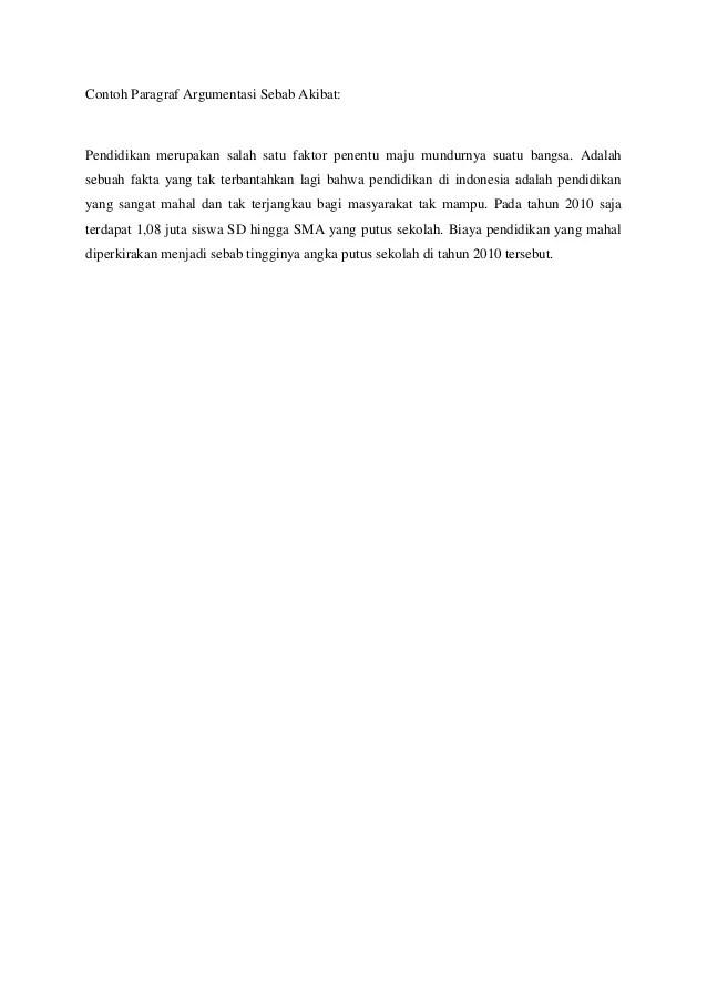 Ciri & 3 Contoh Paragraf Argumentasi Sebab Akibat - Kelas