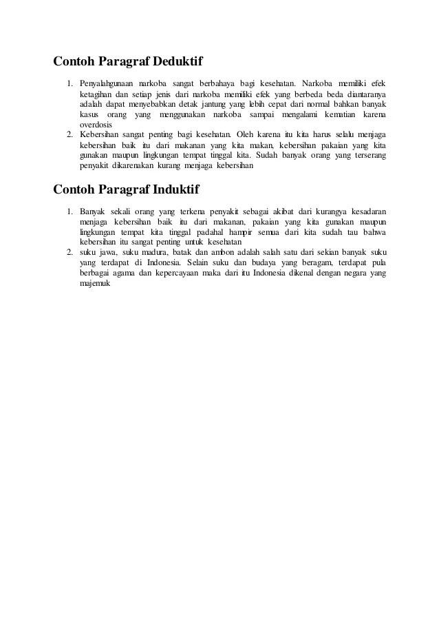 Kalimat Deduktif : kalimat, deduktif, Contoh, Paragraf, Deduktif