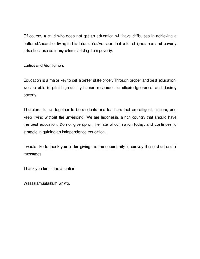 Pidato Bahasa Inggris Singkat Tentang Pendidikan : pidato, bahasa, inggris, singkat, tentang, pendidikan, Contoh, Pidato, Singkat, Bahasa, Inggris, Materi, Pelajaran