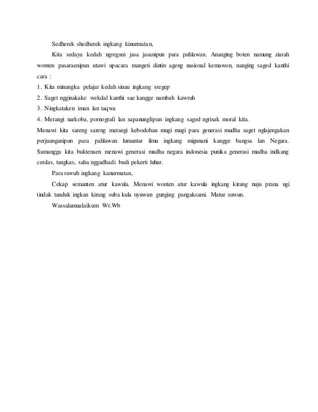 13+ Contoh Pidato Bahasa Jawa Singkat Krama Inggil (Lengkap)
