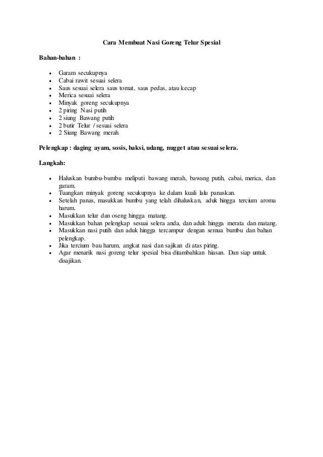 Contoh Procedure Text Makanan : contoh, procedure, makanan, Contoh, Procedure, Tentang, Makanan