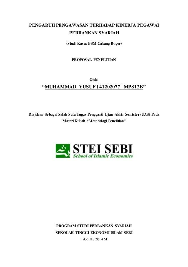 Judul Skripsi Perbankan Syariah : judul, skripsi, perbankan, syariah, Contoh, Proposal, Skripsi