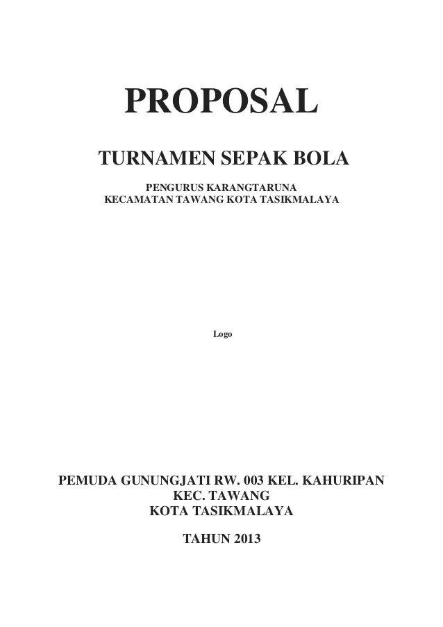 Contoh Proposal Sepak Bola : contoh, proposal, sepak, Contoh, Proposal, Turnamen, Sepak