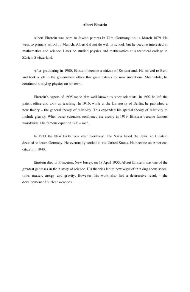 Contoh Recount Text : contoh, recount, Contoh, Recount, Albert, Einstein