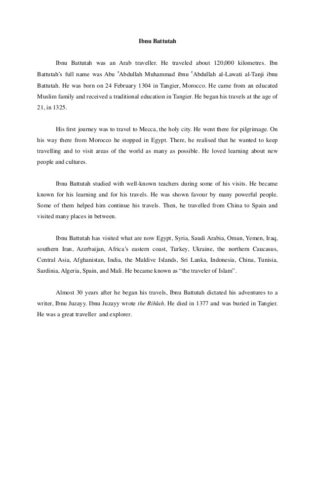 Contoh Recount Text : contoh, recount, Contoh, Recount, Battutah