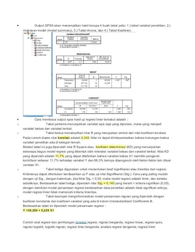 Cara Membaca Output Spss Analisis Regresi Logistik Part 2 Of...