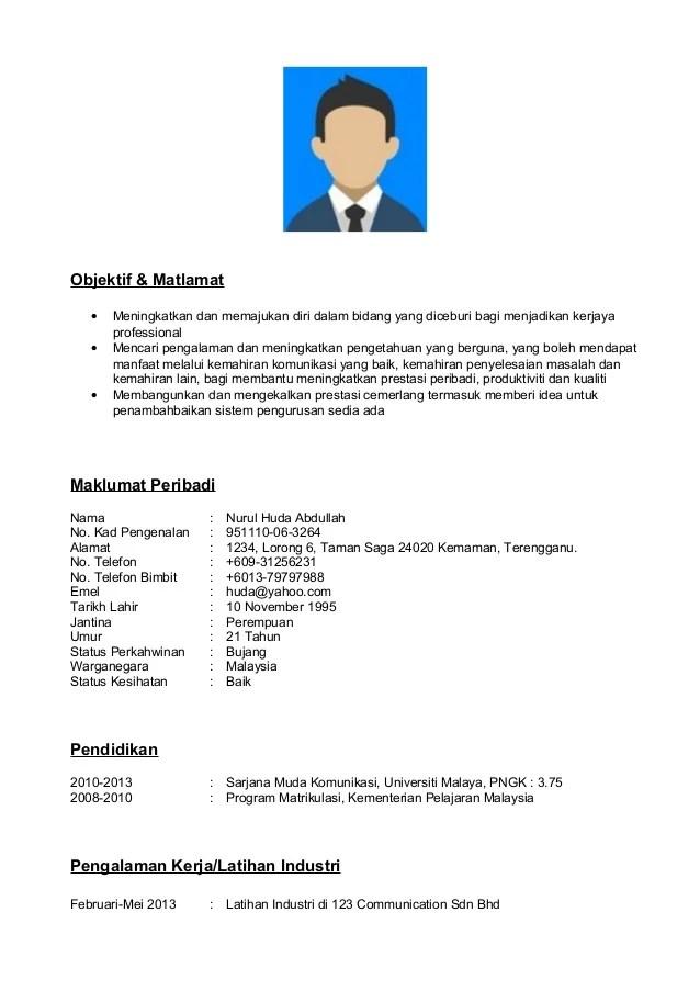 Contoh Cover Letter Untuk Resume Dalam Bahasa Melayu Sample Resume
