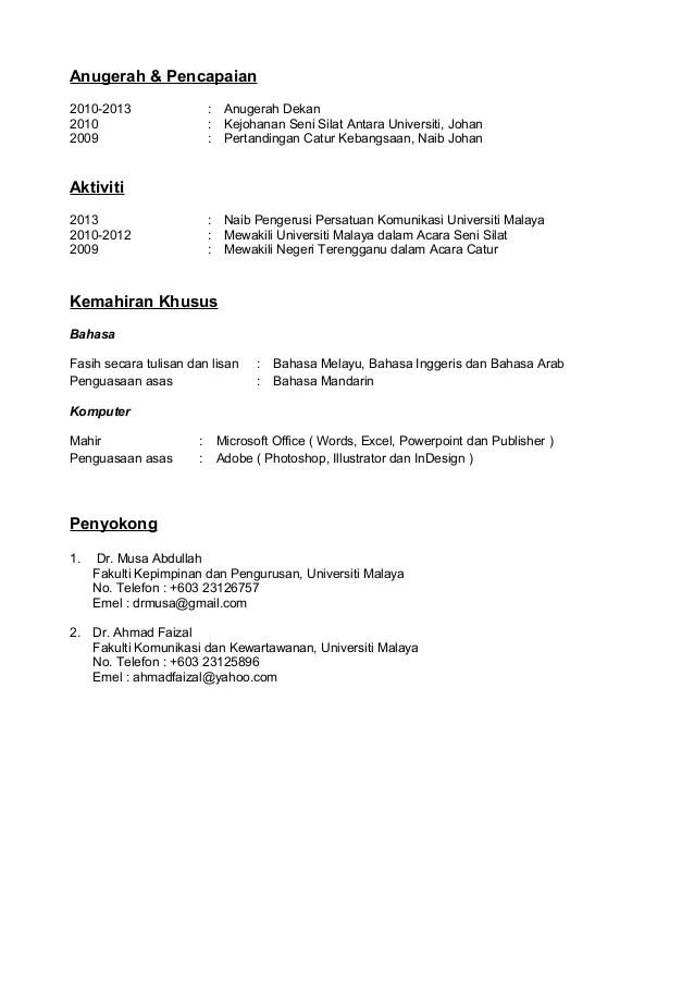 Contoh Resume Doc professional fresher resume 12 free