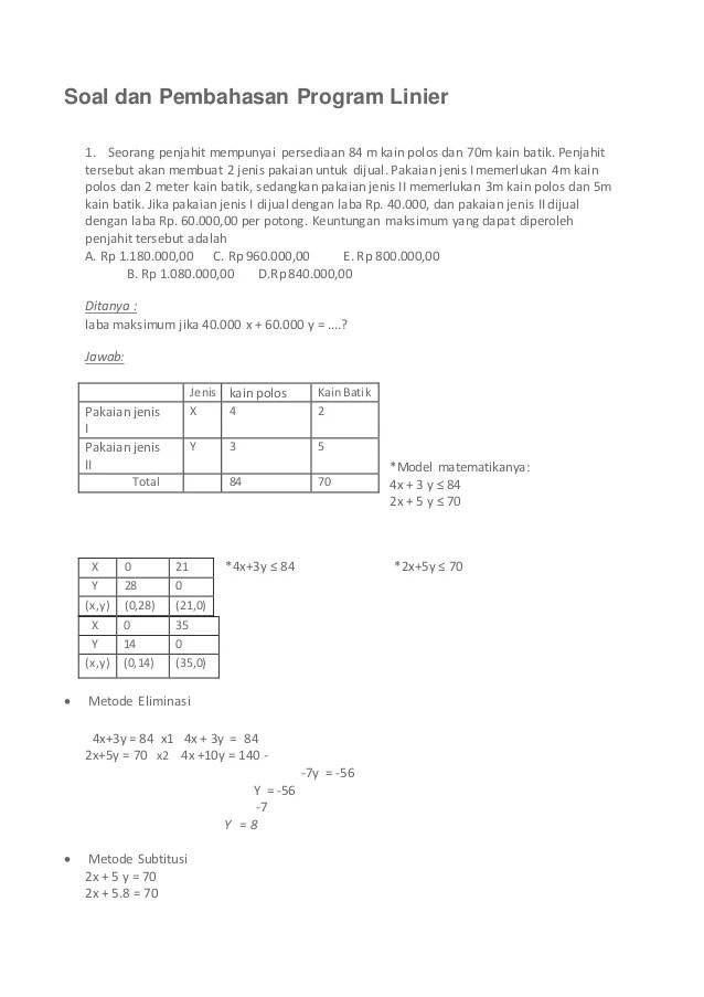 Contoh Soal Model Matematika : contoh, model, matematika, Contoh, Model, Matematika, Kelas, Barisan