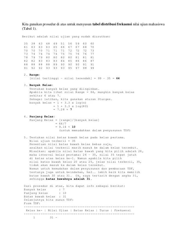 Contoh Soal Distribusi Frekuensi : contoh, distribusi, frekuensi, Contoh, Satistik