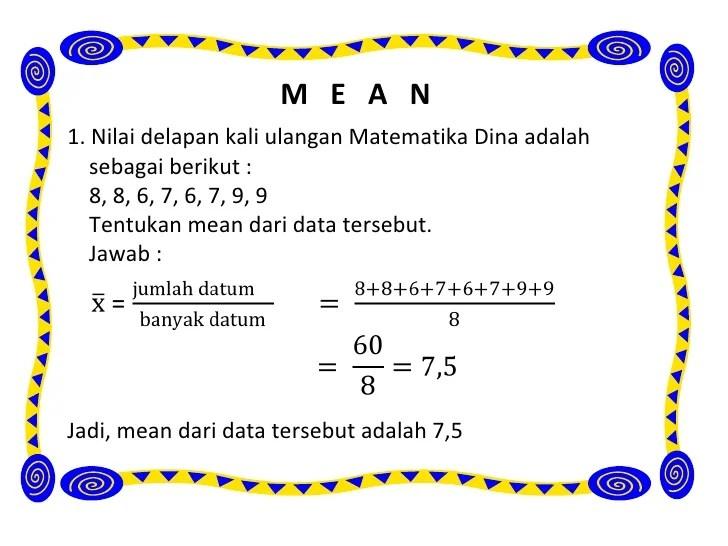 Pelajaran soal rumus statistika data. Contoh Soal Statistika