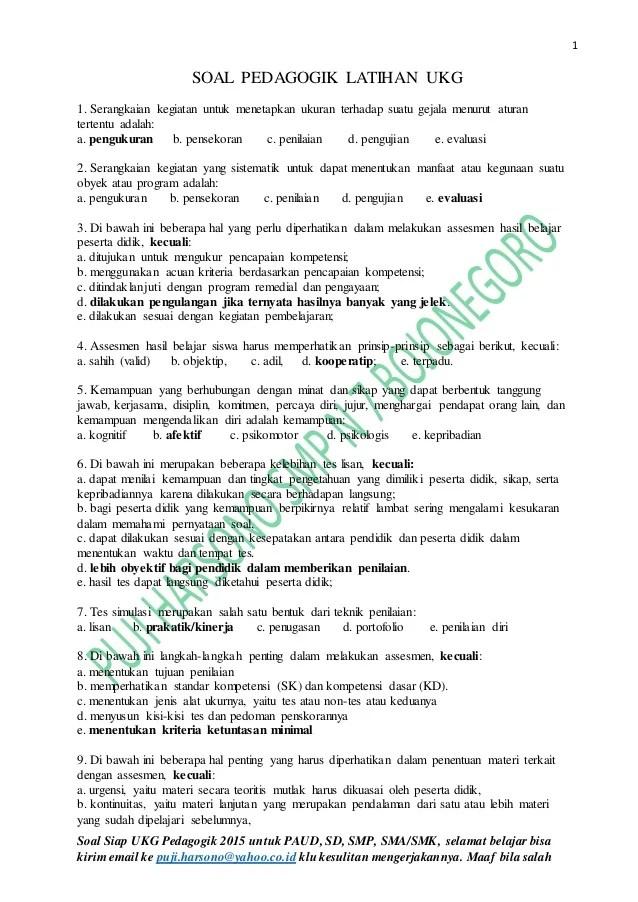 Latihan Soal Ukg Tk 2015 : latihan, Contoh