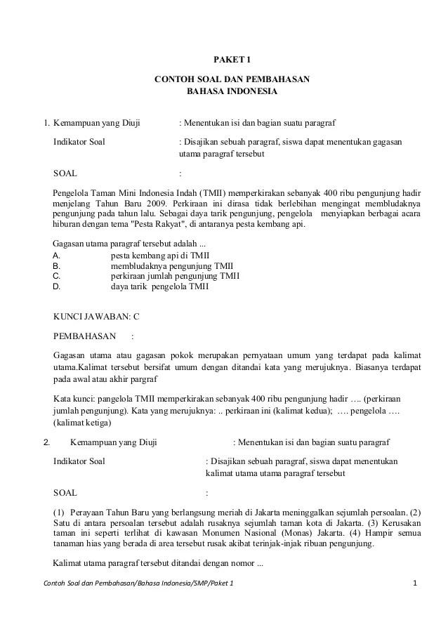 Soal Latihan Un Smp Ipa Matematika Indonesia Inggris New Style For 2016 2017