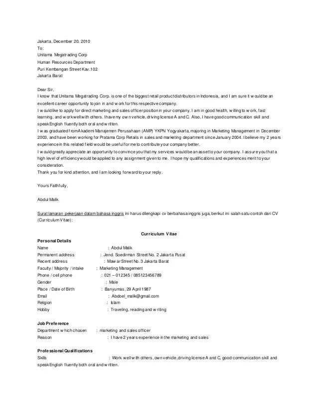 Contoh Surat Lamaran Pekerjaan Dan Surat Kuasa Cute766