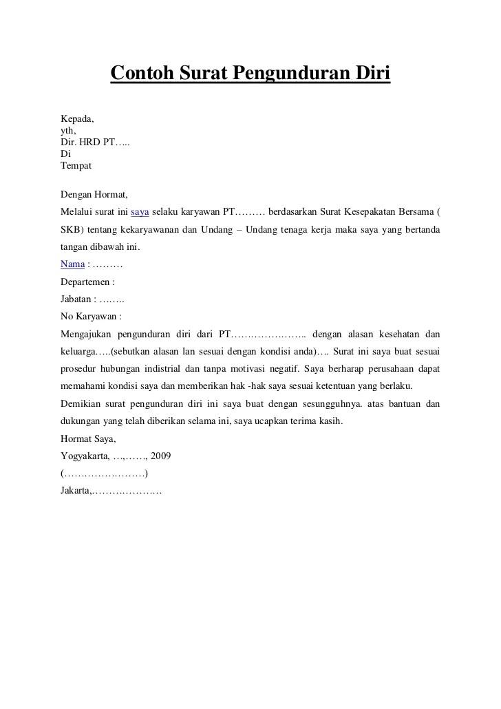 Surat Mengundurkan Diri : surat, mengundurkan, Contoh, Surat, Pengunduran