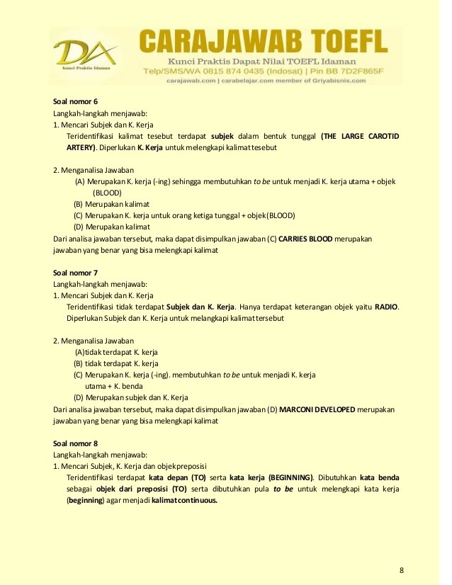 Contoh Soal Toefl Dan Pembahasannya Pdf : contoh, toefl, pembahasannya, Contoh, Toefl, Pembahasan, Fasrlibrary