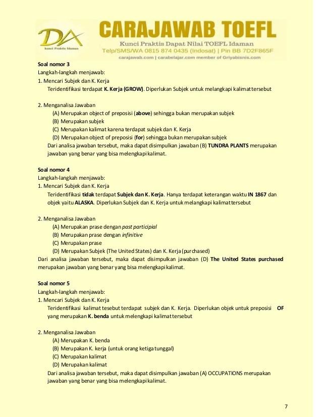 Soal Soal Toefl Dan Pembahasan Pdf - lasopaclub