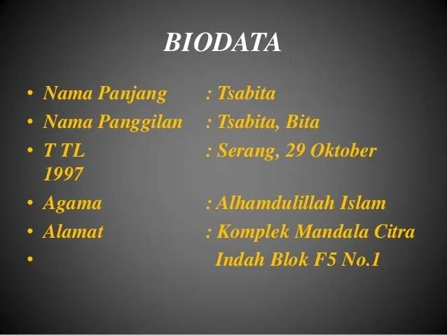 Contoh Biodata Ayah Contoh Raffa